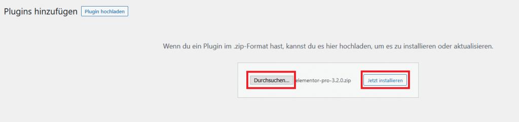 wordpress plugin durchsuchen