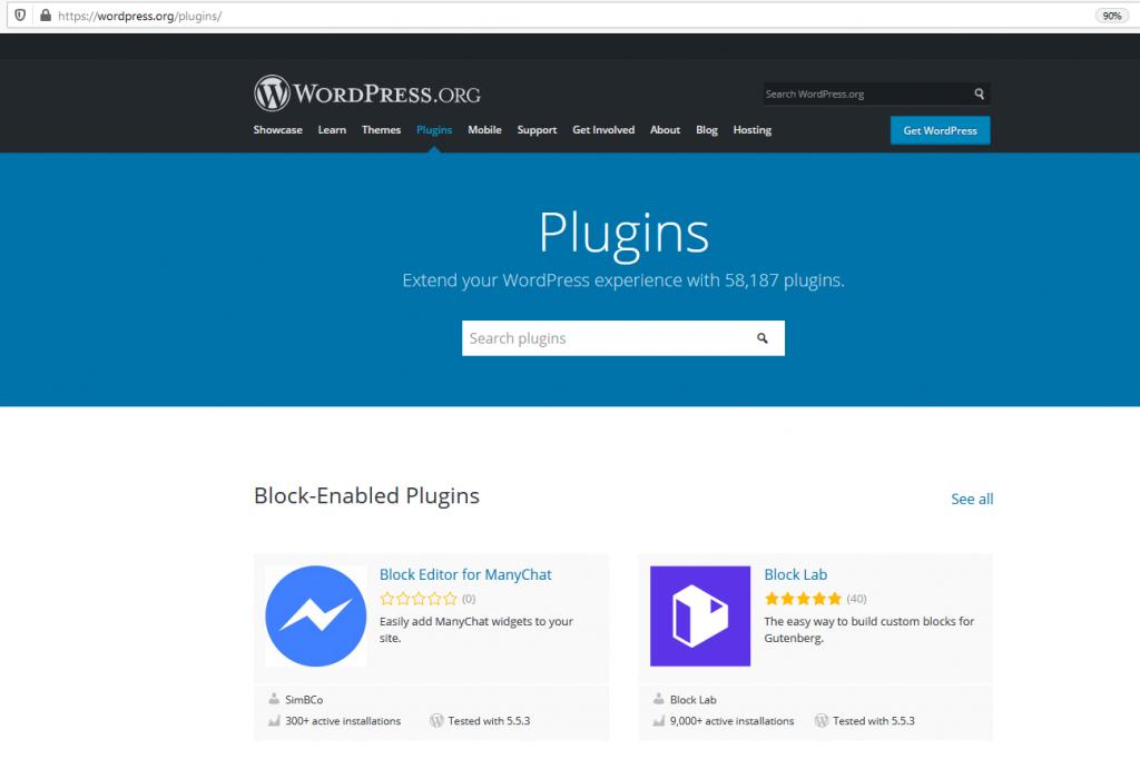 wordpress plugin suchen